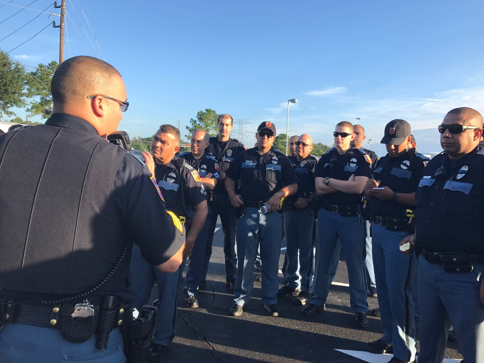 Crews with the El Paso Police Department helping with the Harvey relief effort . Photo courtesy of the City of El Paso.