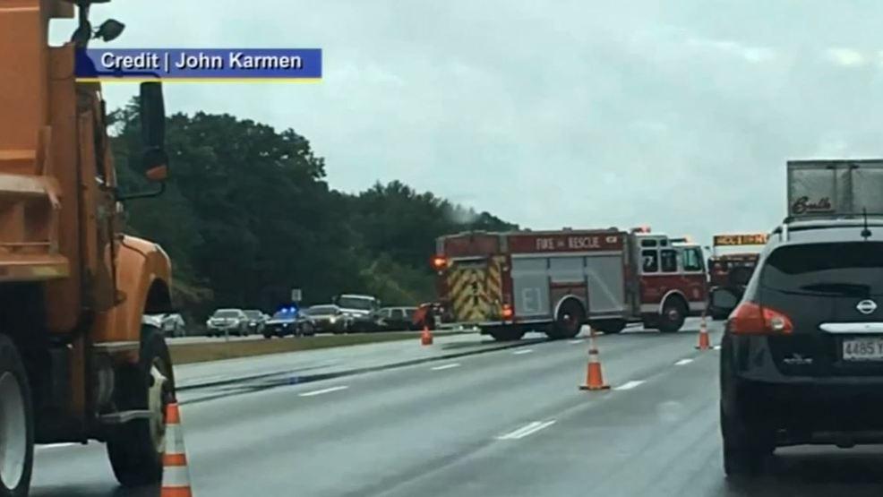 Massachusetts officer injured in crash on I-95 in NH dies