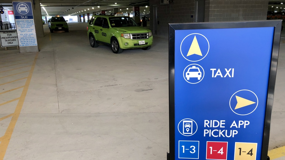 Austin's airport moves the taxi and ride-sharing pick up