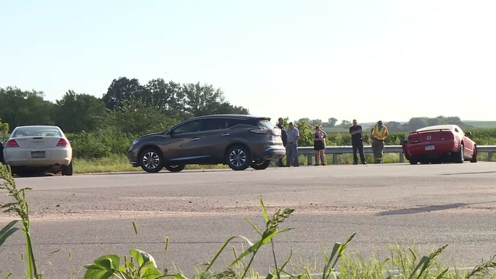 Traffic stalled after crash at intersection of Hwy 20 and
