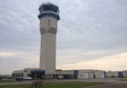 The air traffic control tower at Wittman Regional Airport in Oshkosh, June 4, 2013.