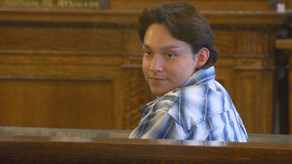 NeeGee Cloud appears in Brown County court on Friday, May 30, 2014. (WLUK)