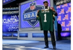 Alabama free safety Ha Ha Clinton-Dix poses for photos after being selected by the Green Bay Packers as the 21st pick in the first round of the 2014 NFL Draft, Thursday, May 8, 2014, in New York. (AP Photo/Craig Ruttle)
