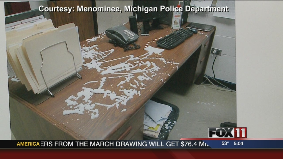 Vandals damage Menominee High School