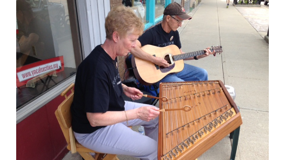Musicians perform in downtown Appleton June 9, 2014, as part of Street Music Week. (WLUK/Jerry Van Handel)